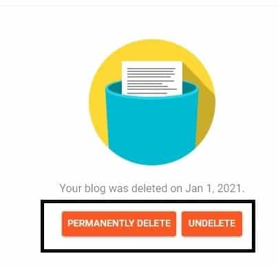 how to delete blog on blogger